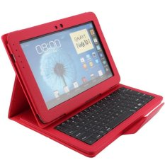 For 10.1 inch Samsung Galaxy Note N8000 / N8010 Wireless Bluetooth ABS Plastic Detachable Keyboard Case Cover, Red - intl