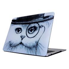 Untuk 2016 Baru MAC Buku Pro 15.4 Inch dengan Touchbar (A1707) kucing Di Topi Pola Laptop Air Stiker Buah Kasus Pelindung-Internasional