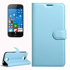 For Acer Liquid Jade Primo 5.5 inch & Liquid Jade 2 Litchi Texture Horizontal Flip Leather Case with Magnetic Buckle & Holder & Card Slots & Wallet(Blue) - intl