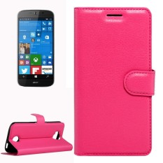 For Acer Liquid Jade Primo 5.5 inch & Liquid Jade 2 Litchi Texture Horizontal Flip Leather Case with Magnetic Buckle & Holder & Card Slots & Wallet(Magenta) - intl