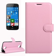 For Acer Liquid Jade Primo 5.5 inch & Liquid Jade 2 Litchi Texture Horizontal Flip Leather Case with Magnetic Buckle & Holder & Card Slots & Wallet(Pink) - intl
