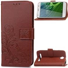 untuk Acer Liquid Z6 Case Cover-Gaya Busana Klasik Dompet Flip Stand PU Kulit Phone Case-Intl