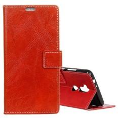 Untuk Alcatel A7 XL Retro Crazy Horse Tekstur Horisontal Flip Case Kulit dengan Pemegang dan Slot Kartu dan Dompet dan Bingkai Foto (Merah) -Intl