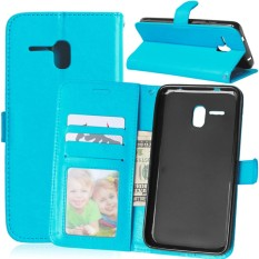 untuk Alcatel One Touch Case Cover-Gaya Busana Klasik Dompet Flip Stand PU Kulit Mobile Phone Case -Intl