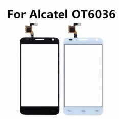 Untuk Alcatel Satu Sentuh Idol 2 Mini S 6036Y OT6036 6036 Sentuh Layar Digitizer Panel Sentuh Penggantian Seluler Aksesori + 3 M Tape + Membuka Alat Perbaikan + Lem-Internasional