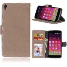 untuk Alcatel One Touch Idol 3 5.5 6045Y/6045 K Case [Cofola] PU Kulit Flip Case Dompet Cover-Intl