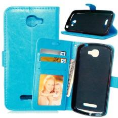untuk Alcatel One Touch Idol Fierce 2 7040 T Case Cover-Gaya Busana Klasik Dompet Flip Stand PU Kulit Case Ponsel-Internasional