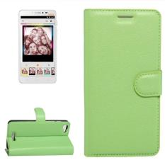 For Alcatel Pixi 4 Plus Power Litchi Texture Horizontal Flip Leather Case With Holder and Card Slots and Wallet(Green) - intl