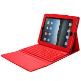 Harga To Apple Ipad 4 3 2 Pu Tablet With Keyboard Bluetooth Case Kulit Cover Merah Termurah