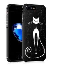 untuk Apple IPhone 7 Plus 3D Lukisan Silikon TPU Anti-Fall Airbag Cover Case (Big White Cat) -Intl