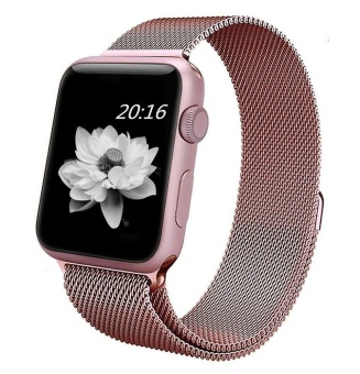 Harga Untuk Watch Band 38Mm Rose Gold Milanese Loop Stainless Steel Gelang Tali Magnetic Penutupan Gesper Penggantian Wrist Band Untuk Seri 1 Seri 2 Sport Edition Intl Oem Online