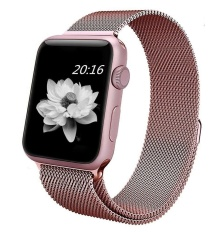 Toko Untuk Watch Band 38Mm Rose Gold Milanese Loop Stainless Steel Gelang Tali Magnetic Penutupan Gesper Penggantian Wrist Band Untuk Seri 1 Seri 2 Sport Edition Intl Online Tiongkok