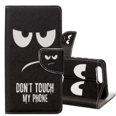 For ASUS Zenfone 4 Max Pro ZC554KL Eyes Pattern Horizontal Flip Leather Case with Holder and Card Slots and Wallet - intl