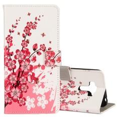 untuk ASUS ZenFone 4 Selfie Pro ZD552KL Plum Blossom Pola Case Kulit Horisontal Flip dengan Pemegang dan Slot Kartu dan Dompet-Intl