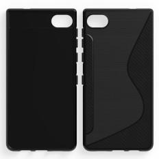 For Blackberry montion soft case shockproof Anti-skid S Line TPU Gel Skin Cover For BlackBerry Motion / Krypton Carbon fiber drawing housing - intl