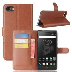 For BlackBerry Motion Litchi Texture Horizontal Flip Leather Case with Holder & Card Slots & Wallet(Brown) - intl