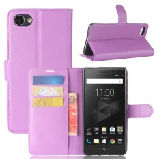 For BlackBerry Motion Litchi Texture Horizontal Flip Leather Case with Holder & Card Slots & Wallet(Purple) - intl