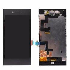 For Blackberry Z20 LCD Display Touch Screen Digitizer Assembly + Bezel Frame, Black - intl