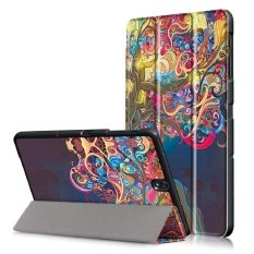 untuk Kasus untuk Galaxy Tab S3 T820/T825 9.7 Inch Tablet, Intelligent Sleep Folding Stand Painted Leather Case Cover untuk Galaxy Tab S3 T820/T825 9.7 Inci Tablet (Painted A) -Intl