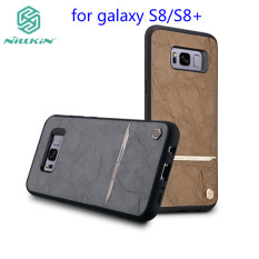 for galaxy S8+ Nillkin Classic PU Leather PC hard back Cover phone bag for samsung galaxy
