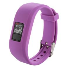 For Garmin Vivofit 3 Smart Watch Silicone Watchband, Length: about 24.2cm(Purple) - intl