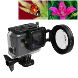 Promo Untuk Gopro Hero5 Sport Action Camera Profesional 58Mm 16X Lensa Makro Close Up Dengan Lensa Base Dan Adapter Ring Dan Lensa Pelindung Cap Dan Anti Hilang Tali Pengikat Dan Kain Pembersih Intl Tiongkok