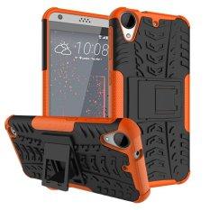 untuk HTC 530 Case, Hard PC + TPU Tahan Guncangan Sulit Dual Layer Menutupi Shell untuk HTC Desire 630, Orange-Intl