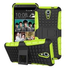 untuk HTC 620 Case Karet TPU + PC Kickstand Rugged Heavy Duty Armor Stand Back Cover Case untuk HTC Desire 620 620g Dual Sim-Intl