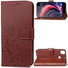 untuk HTC Desire 10 Pro Case Cover-Gaya Busana Klasik Dompet Flip Stand PU Kulit Phone Case-Intl
