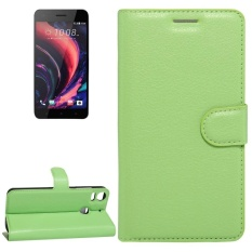 For HTC Desire 10 Pro Litchi Texture Horizontal Flip Leather Case With Holder and Card Slots and Wallet(Green) - intl