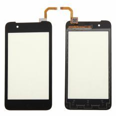 untuk HTC Desire 210 Dual SIM HITAM Depan Digitizer Layar Sentuh Lensa Kaca Sensor Perbaikan Penggantian Bagian-Internasional