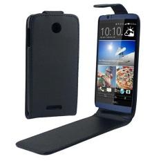 untuk HTC Desire 510 Vertikal Flip Magnetik Snap Leather Case (Hitam)-Intl