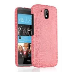 Untuk HTC DESIRE 526 Kulit Case Mewah Buaya Kulit untuk HTC DESIRE 526 Belakang Sarung Aksesoris Telepon Antik Bisnis Lipat case-Internasional