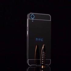 untuk HTC Desire 530 Ultra Slim Bingkai Alumunium + Disepuh Cermin Logam PC Wadah Cover (hitam)-Intl