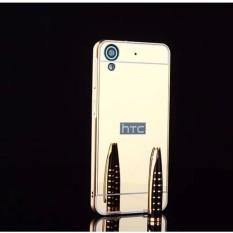 untuk HTC Desire 530 Ultra Slim Bingkai Alumunium + Disepuh Cermin Logam PC Wadah Cover (emas)-Intl
