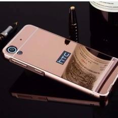 untuk HTC Desire 530 Ultra Slim Bingkai Alumunium + Disepuh Cermin Logam PC Wadah Cover (pink)-Intl