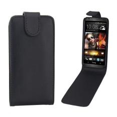 untuk HTC Desire 601/ZARA Vertikal Flip Magnetik Snap Leather Case (Hitam)-Intl