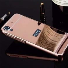 untuk HTC Desire 630 Slim Bingkai Alumunium + Disepuh Cermin Logam PC Case Cover-Intl