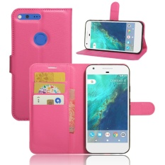 untuk HTC Google Pixel XL/Nexus M1 Case Cover-PU Kulit Klasik Fashion Style Dompet Flip Stand Phone Case-Intl