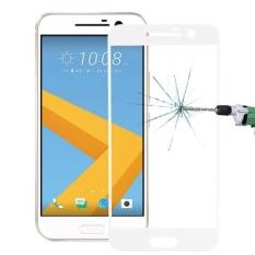 untuk HTC M10 0.26mm 9 H Kekerasan Permukaan Tahan Ledakan Silk-screen Film Anti Gores (putih) -Intl