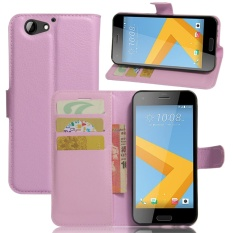 untuk HTC One A9s Case Cover-PU Kulit Klasik Fashion Style Dompet Flip Stand Phone Case-Intl