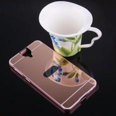 untuk HTC ONE E9 Plus Slim Bingkai Alumunium + Disepuh Cermin Logam PC Case Cover-Intl