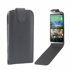 untuk HTC One M8 Vertikal Flip Magnetik Snap Leather Case (Hitam)-Intl