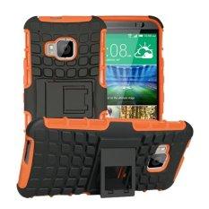 untuk HTC One M9 Case Heavy Duty Armor Tahan Guncangan Hibrida Hard Soft Silicone Karet Kasar Phone Case Cover untuk HTC M9 (Orange) -Intl