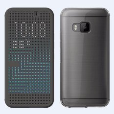 untuk HTC One M9 Dot View Ice Premium Abu-abu Flip Cover Shell Case-Intl