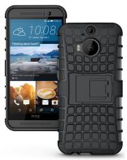 untuk HTC One M9 Plus Case Heavy Duty Phone Cover untuk HTC M9 Plus Hybrid Shockproof Hard Armor Rugged Karet TPU Coque dengan Stand (Hitam) -Intl