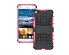 untuk HTC One X9 Case Heavy Duty Phone Cover untuk HTC X9 Hybrid Shockproof Hard Armor Rugged Karet TPU Coque dengan Stand (Hotpink) -Intl