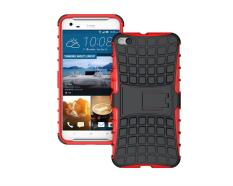 untuk HTC One X9 Case Heavy Duty Phone Cover untuk HTC X9 Hybrid Shockproof Hard Armor Rugged Karet TPU Coque dengan Stand (Merah) -Intl