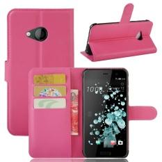 untuk HTC U Play Case Cover-PU Kulit Klasik Fashion Style Dompet Flip Stand Phone Case-Intl