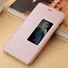 Untuk Huawei Ascend P9 13.21 cm lihat jendela sandal kulit penutup PU kulit mewah kasus (